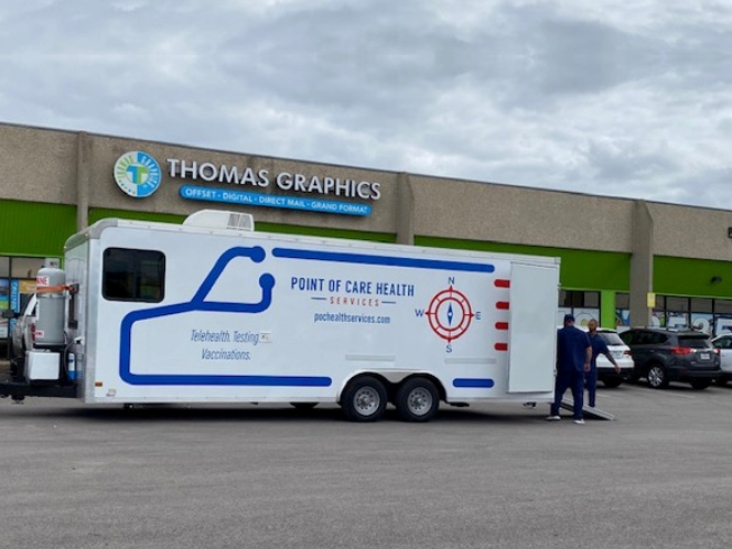 COVID 19 Testing for Central Texas Employers: Thomas Graphics Plays it Safe
